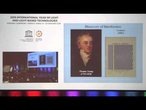 "Nobel Laureate Ahmed Zewail: ""Light and Life"" plenary talk at International Year of Light kickoff"