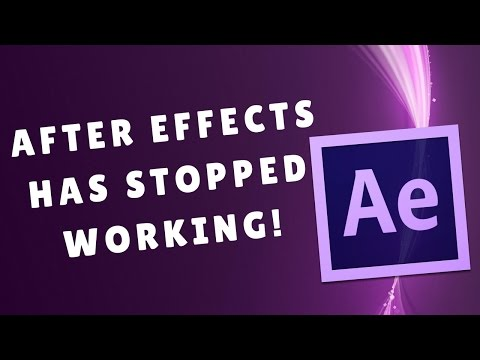 ADOBE AFTER EFFECTS Has Stopped Working | How to Fix