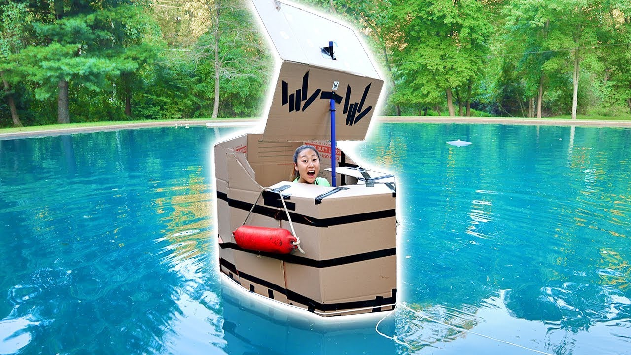 Box fort boat challenge youtube for Boat mailbox