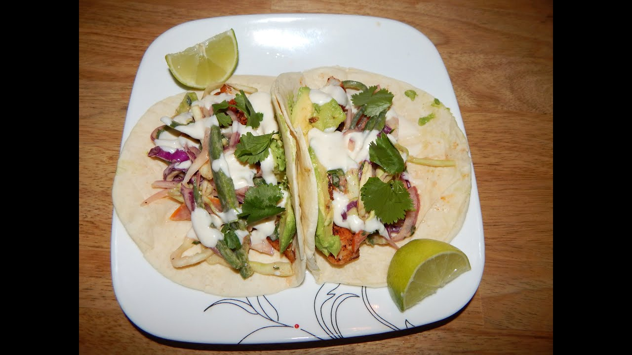 Fish tacos recipe how to make fish tacos blackened for Making fish tacos