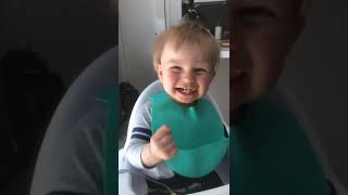 Baby reacts to Siri telling him how old he is