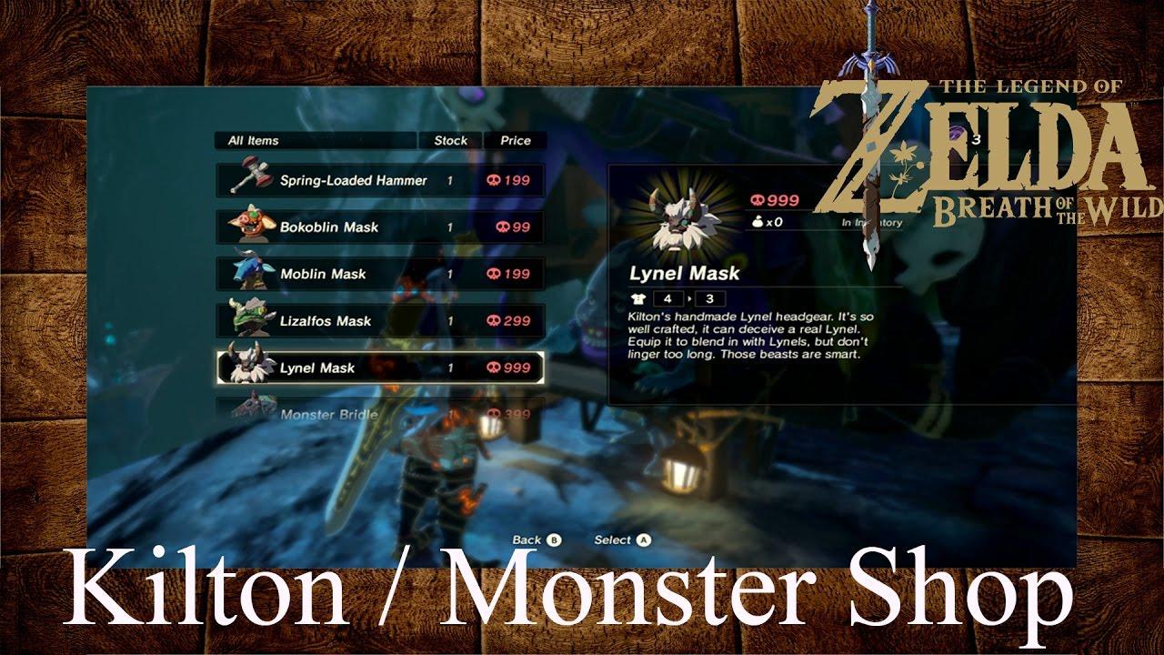Breath Of The Wild Dark Link >> Zelda Breath Of The Wild Kilton Monster Shop (Dark Link Merchant) - YouTube