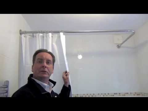 How to install a shower curtain rail by Byretech