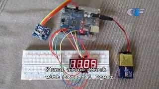 ds1307 real time clock with serial output and 4 digit 7 segment display