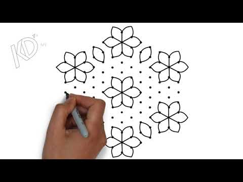 13x7 interlaced dots || sankranthi muggulu designs ||pongal kolam designs  || easy rangoli designs