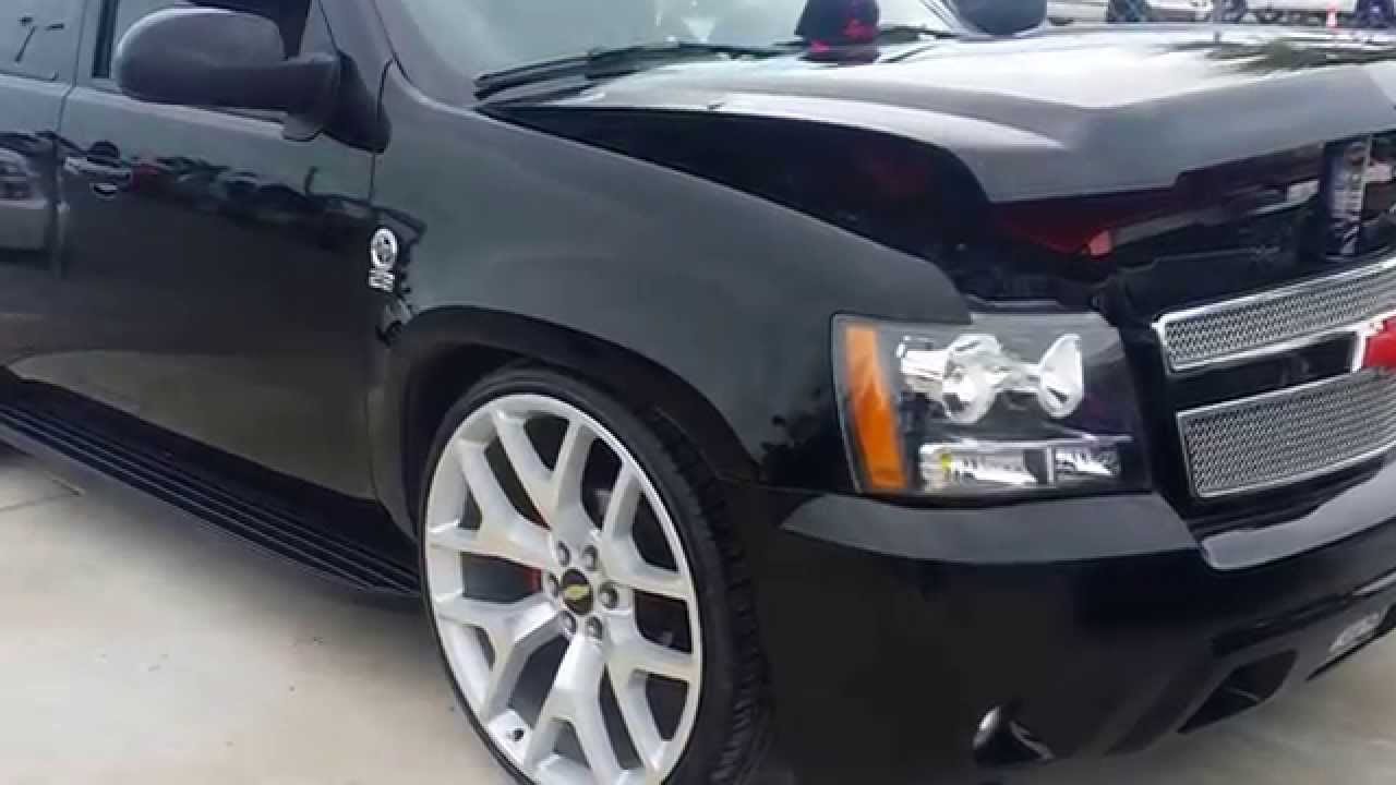 """LOWERED CHEVY TAHOE ON 1st 26"""" CHEVY RIMS - YouTube"""