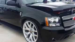 """LOWERED CHEVY TAHOE ON 1st  26"""" CHEVY RIMS"""