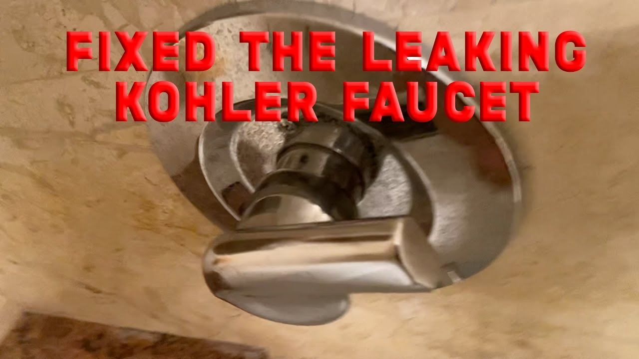 my kohler bathtub faucet was leaking and it was a pain at first mysterious handle