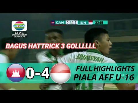 INDONESIA VS KAMBOJA 4-0 Full Highlight dan Gol Piala AFF U16 2018