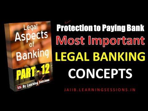 Laws- Protection to paying Banker Negotiable Instrument Act 1881 JAIIB Legal aspects of Banking