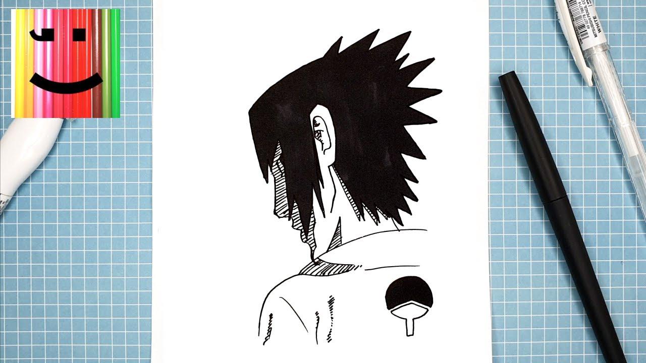 Facile Dessin D Un Personnage De Manga Comment Dessiner Sasuke Social Useful Stuff Handy Tips
