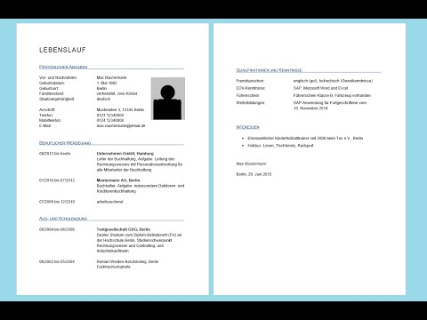 Curriculum Vitae Vorlage Mit Anschreiben Zum Download