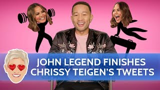 John Legend Finishes Wife Chrissy Teigen's Tweets