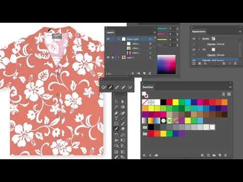 Adding Details to the Hawaiian Shirt