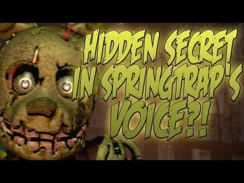 HIDDEN SECRET IN SPRING TRAP'S VOICE?!