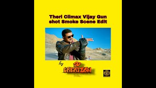theri climax vijay gun shot scene atlee smoke font animation tutorial on kinemaster by surya don
