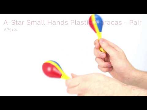 A-Star Small Hands Plastic Maracas - Pair
