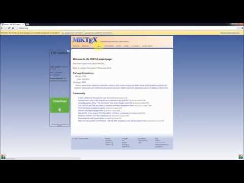 Tutorial: Installing LaTeX/MiKTeX And Texmaker On A Windows 7 Or Windows 10 System (Version 2014)