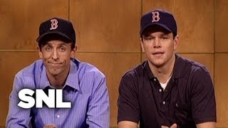 Weekend Update: Matt Damon and Seth Meyers on Coping with Losing - SNL