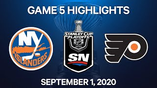 NHL Highlights | 2nd Round, Game 5: Islanders vs. Flyers - Sept 1, 2020