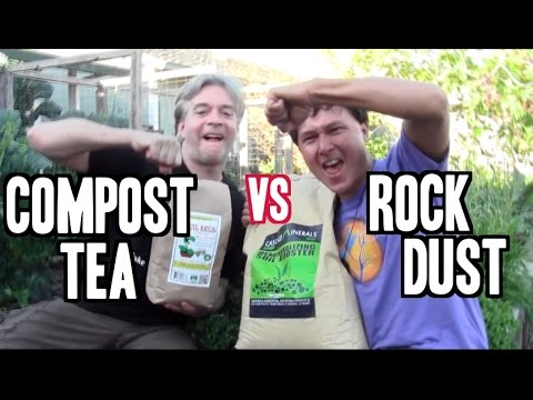 Compost Tea vs Rock Dust - Which is the Better Organic Ferti