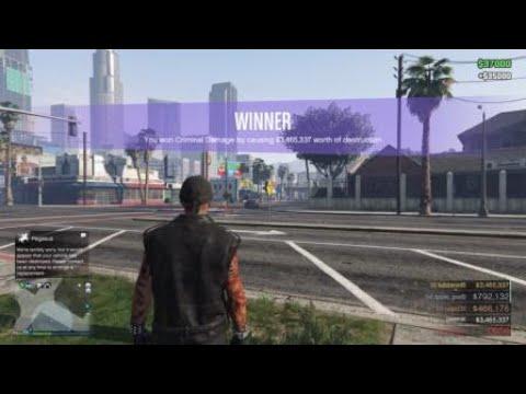 Grand Theft Auto V Online-Criminal Damage Challenge