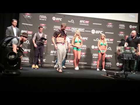 UFC DUBLIN Brad Pickett v Ian McCall weigh in