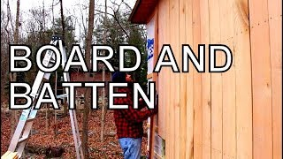 THE BEST SIDING FOR YOUR BARN,CABIN AND WORKSHOP, BOARD AND BATTEN