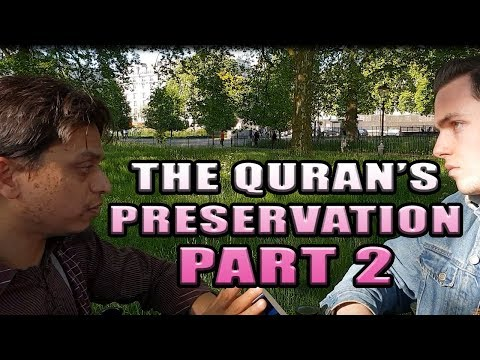 Hyde Park Dawah [ The Quran's Preservation PART 2. Br Mansur and polite Visitor debate