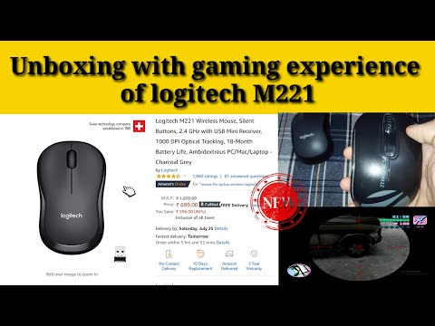 Logitech M221 wireless mouse Unboxing and review | with gaming experience