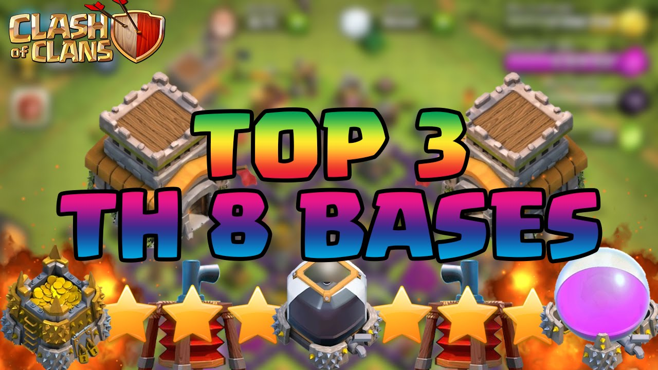 Clash Of Clans Best Town Hall 8 Th8 Defense Strategy Farming War Trophy Hybrid Base Design 2015 Clash Of Clans Videos