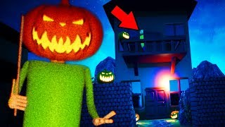 TRICK R TREATING AT BALDIS HOUSE! (NEW) || Baldi's Basics in Education and Learning Remastered