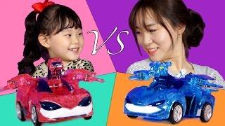 파워배틀 울트라 와치카 대결!!! 업그레이드 와치카 미니카 로봇 배틀 장난감 챌린지 놀이 LimeTube & Toy 라임튜브