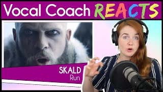 Vocal Coach reacts to SKÁLD - Rún