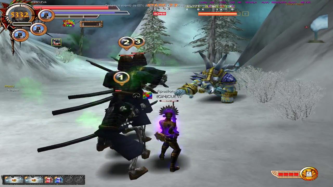 Rakion sacando Materiales Con 3 Musketer king lv99
