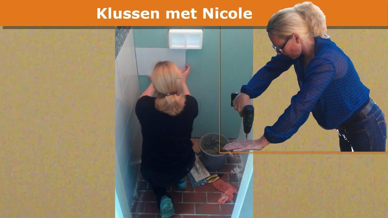 Frontplaat Hangend Toilet : Nicole bouwt zwevend toilet youtube