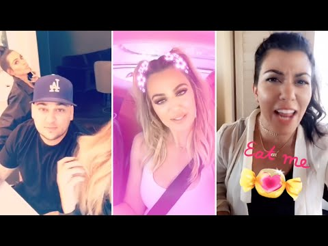 Khloe Kardashian | Snapchat Videos | August 2016 | ft Rob Kardashian, Kendall, Kourtney, Kim + MORE