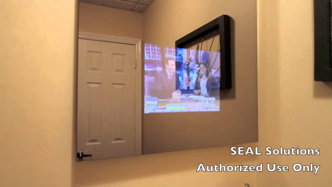 Incroyable SEAL Solutions   Bathroom Mirror TV   YouTube
