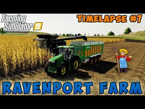 Farming simulator 19 | Ravenport Farm | Timelapse #07 | Plowing field, contract of harvesting