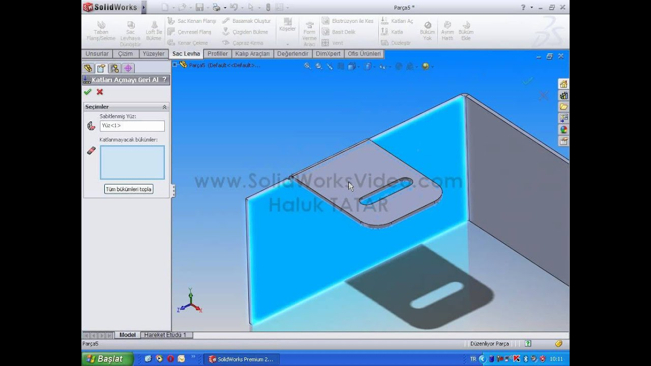 Solidworks Sheet Metal Edge Flange Youtube