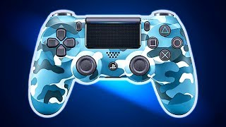 New PS4 Controller: Blue Camouflage DUALSHOCK 4 Trailer (Special Edition, 2018)