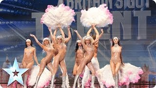 Repeat youtube video Crazy Rouge add some cabaret glamour | Britain's Got Talent 2014