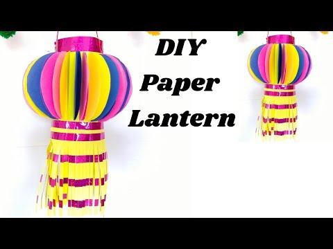 DIY Paper Lantern/ How to make Kandil for Diwali/ Diwali decoration ideas.