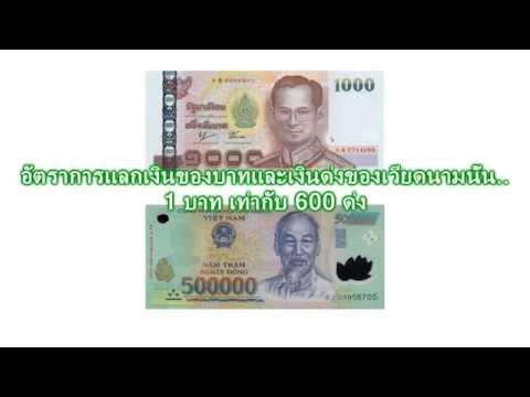 อัตราการแลกเงินบาทและเงินด่งของเวียดนาม