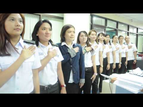 Philippine Bureau of Immigration Human Flag Formation (National Anthem)
