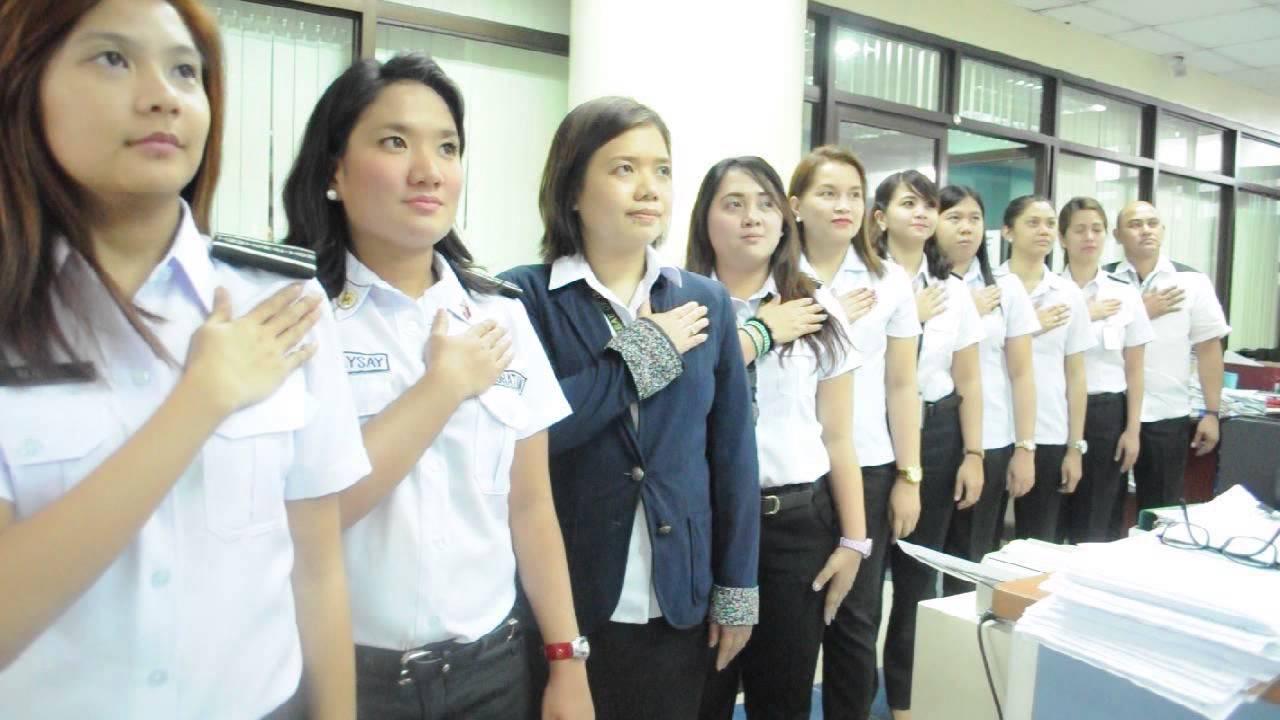Philippine bureau of immigration human flag formation national