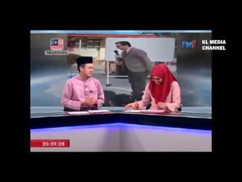 Penyampai Berita TV1 Tergelak Semasa Bersiaran Langsung