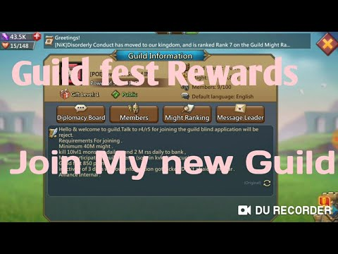 Lords Mobile Guild Fest Rewards And Join My New Guild