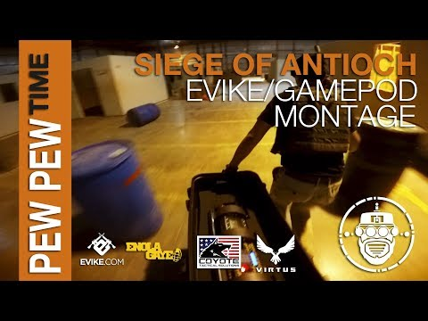 Robo-Airsoft: Pew Pew Time - Siege Of Antioch - Evike Outpost Grand Opening - Gamepod Montage