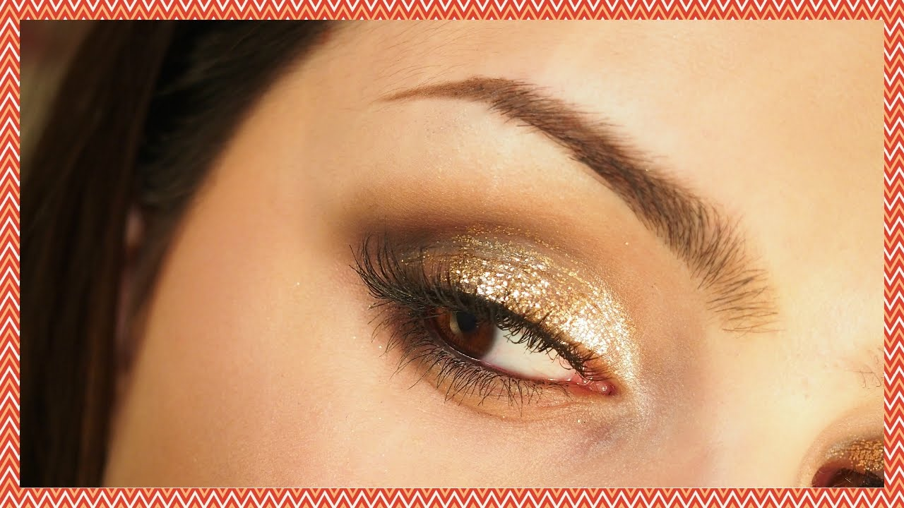 MAC Gold Glitter Holiday Party Makeup Tutorial